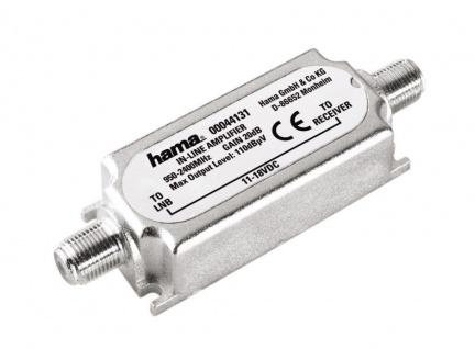 Hama SAT-Inline-Verstärker 20dB für HDTV SAT-Receiver F-Stecker 2 F-Kupplungen