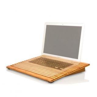 Macally Bambus ECO-FAN Laptop Notebook Kühler Ständer Stand Halter Tisch Ablage