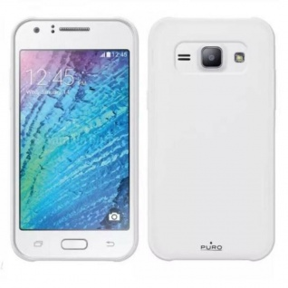 Puro Back-Case Silikon Cover Klar Schutz-Hülle Schale für Samsung Galaxy J1 J 1