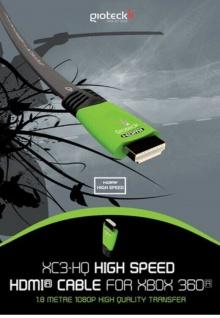 Gioteck HQ HDMI-Kabel Anschluss-Kabel für Microsoft XBOX ONE XBOX 360 Konsole TV - Vorschau 4