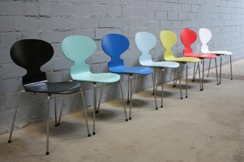 Design Fritz Hansen by Arne Jacobsen 3101 Stuhl Ameise Chair 4-Bein stapelbar - Vorschau 1