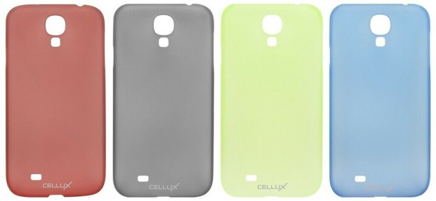 Cellux Ultra-Thin Back Case Cover Handy Schutz-Hülle klar für Samsung Galaxy S4