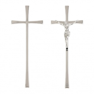 Grabmal-Kreuz Silber Grab-Kreuz Urnen-Kreuz Jesus Korpus Kruzifix für Grabsteine