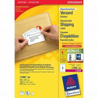 Avery Zweckform L7966 600x Adress-Etiketten ablösbar A4 Drucker Adressaufkleber