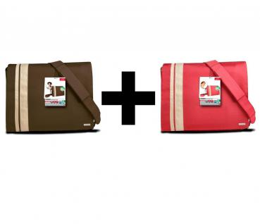BUNDLE 2x Speedlink Notebook-Tasche Kurier Messenger Bag Laptop-Tasche bis 16, 4