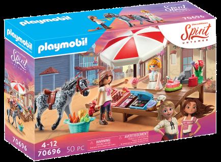 Playmobil 70696 Spirit Untamed Miradero Süßigkeitenstand Reiten Pferde Spielzeug