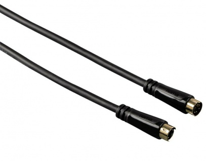 Hama HQ 5m Verbindungs-Kabel S-Video S-VHS SVHS Hosiden 4-pol DIN Gold High-End