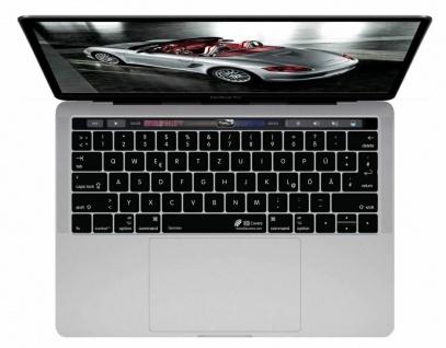 KB Tastatur-Abdeckung Schutz-Cover Deutsch DE QWERTZ Skin für MacBook Pro 13 15