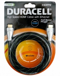 Duracell HQ 2m HDMI-Kabel 4K 3D Full HD Ethernet Gold für TV PS4 XBOX 360 One ..