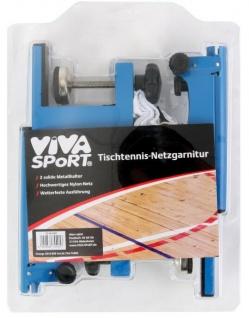 Viva-Sport Tischtennis-Netzgarnitur Netz für Tischtennisplatte höhenverstellbar