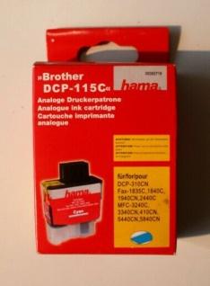Hama Analoge Druckerpatrone für Brother DCP-115C Cyan Blau 13 ml