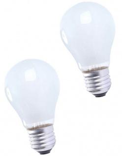 Hama 2x Pack Glüh-Birne 40W E27 Matt 230V Warm-Weiß Glüh-Lampe Leuchtmittel