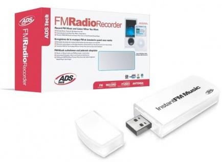 ADS Tech USB FM Radio Recorder Musik Web Radio MP3 kostenlos für MP3 Player iPod