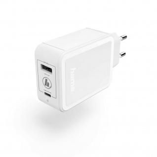 Hama Ladegerät USB-C USB Adapter 42W Schnelles Laden für Handy Tablet