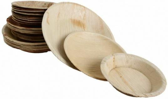 100x Palmblatt Einweg-Teller rund Bio Eco-Geschirr v. Größen kompostierbar Party - Vorschau 3