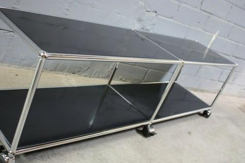 USM Haller Lowboard Regal Medienboard schwarz Rollen Sideboard 150er