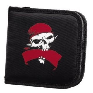 Hama CD-Tasche Pirates 32x CD DVD BluRay CD-Bag Wallet CD-Case Schutz-Hülle Etui