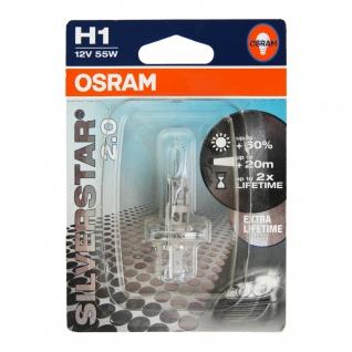 Osram H1 12V 55W Glühbirne SiverStar 2.0 Xenon Look Effekt Halogen-Lampe Birne
