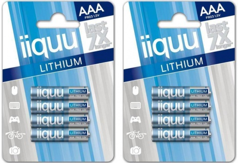 GP Batteries iiquu 8 Lithium AAA-Batterien 8er Pack Batterie 1, 5V FR03 L92 Micro