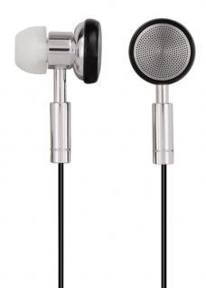 Hama PC-Headset HS-75 Stereo In-Ear Computer-Kopfhörer 3, 5mm Klinke Silber