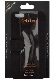 Telileo Wallet Klapp-Tasche Cover Case Hülle für Apple iPhone 6 Plus 6s Plus