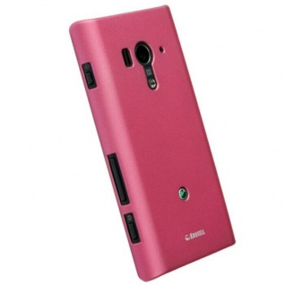 Krusell Cover PINK Case Tasche für Sony XPERIA acro S LT26w Hülle Hardcover Bag