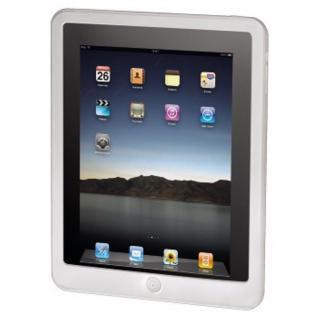 Hama Silikon-Cover Button weiss für Apple iPad 1 1G Case Schutz-Hülle Tasche Bag