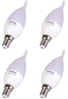 4x Set Patona LED-Lampe Windstoß-Kerze E14 5W = 40W Flamme Glüh-Lampe Glüh-Kerze