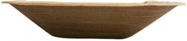 100x Palmblatt Einweg-Schale eckig Bio Eco-Geschirr Party kompostierbar 18x18 cm