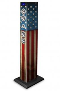 Bigben 2.1 Sound-Tower USA Bluetooth Party-Lautsprecher Box AUX SD USB MP3 Radio