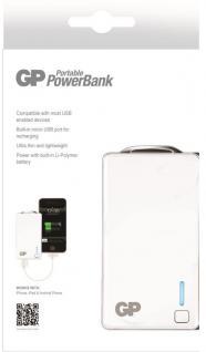 GP 2500mAh Power-Bank Externer Zusatz-Akku USB Ladegerät Batterie Handy Tablet - Vorschau 2