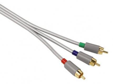 Hama YUV RGB Component-Kabel Gold 3x Cinch-Stecker Komponenten-Kabel Koax HD TV