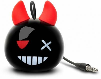 Cellux tragbarer Lautsprecher Devilt 3, 5mm Klinke für Handy MP3 Player Schwarz