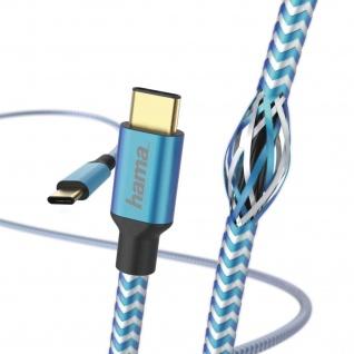Hama USB-C Ladekabel Daten-Kabel Vergoldet 1, 5m Typ C für Smartphone Tablet