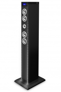 Bigben 2.1 Sound-Tower Bluetooth Party-Lautsprecher LED Box AUX USB MP3 Radio