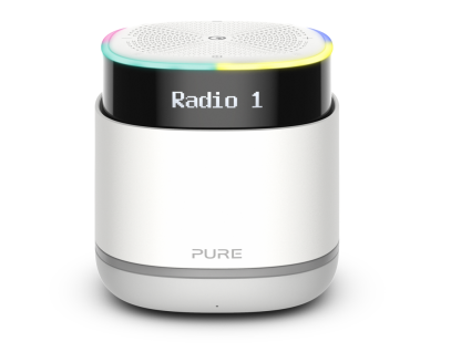 Pure StreamR tragbarer Bluetooth Lautsprecher DAB Digital Radio Alexa AUX LED