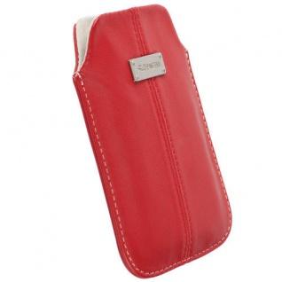 Krusell Luna Pouch L rot Case Leder-Tasche für Apple iPhone 5S 5C 5 Etui Hülle