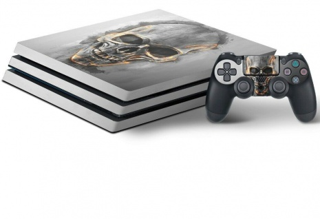 Speedlink Design-Skin Totenkopf Folie Aufkleber Sticker Vinyl für Sony PS4 PRO