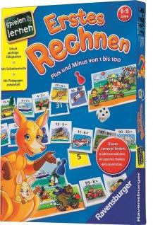 Ravensburger Erstes Rechnen Lern-Spiel Rechen-Spiel Plus Minus 1 bis 100 Lernen