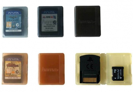 Hama 6x Spiele-Hülle Karte Box Etui für Sony PS Vita 1000 2000 Spielesammlung