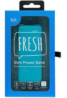 KIT FRESH Mobile Power-Bank 3000mAh Premium Range Externer Akku USB Ladegerät