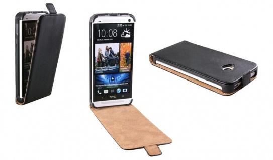 Patona Slim Flip-Cover Klapp-Tasche Schutz-Hülle Cover Case für HTC One M7