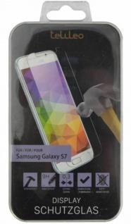 Telileo Hart-Glas Display -Folie Schutz-Folie Panzer für Samsung Galaxy S7