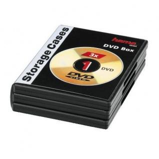 HAMA DVD DVD-Rom LEERHÜLLE Storage Case 3er Set Schwarz