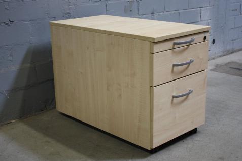 Schärf by Samas Rollcontainer Schubladen Buche Holz Büro Schreibtisch-Container