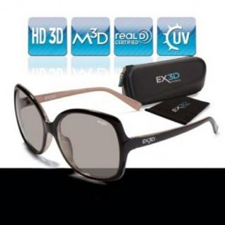EX3D Damen 3D Brille passiv Retro Polfilterbrille für HD 3D-TV Beamer Kino RealD