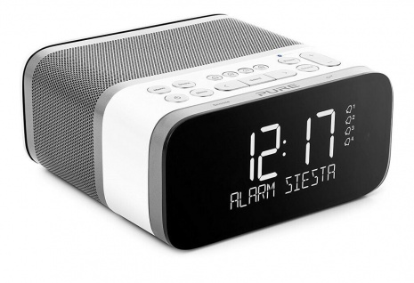 Pure Siesta S6 Digital-Radio Radio-Wecker Uhren-Radio FM UKW DAB+ USB Bluetooth