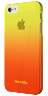 XtremeMac Design Cover Orange Bumper Hülle Hardcase Tasche für Apple iPhone 5S 5