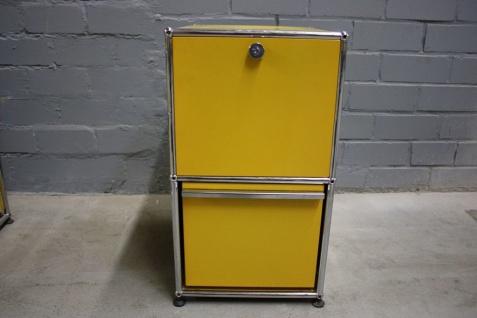 USM Haller Stand-Container Rollcontainer Regal Sideboard Klappe Schublade gelb