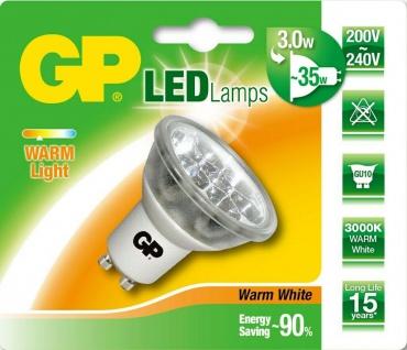 GP LED Strahler GU10 3W / 35W Warmweiß 3000K Lampe Birne Leuchtmittel Reflektor